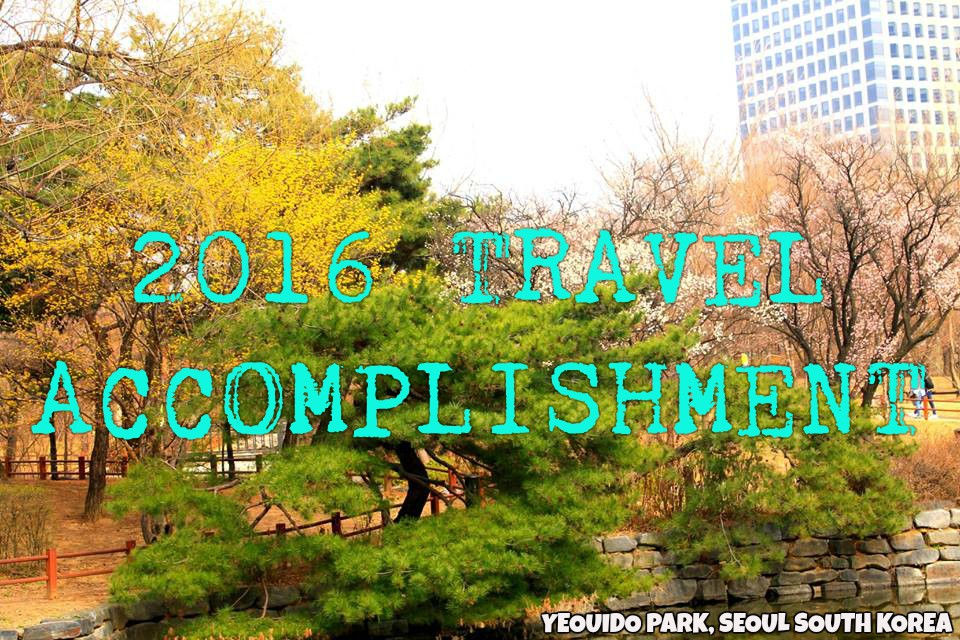 2016 TRAVEL ACCOMPLISHMENT